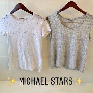 Michael Stars lot of 2 shirts Size S